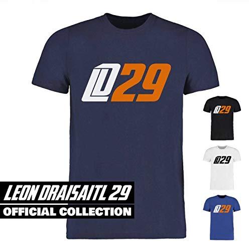 Scallywag Eishockey T-Shirt Leon Draisaitl LD29 weiß, blau & Navyblau I Größen XS - 3XL I A BRAYCE Collaboration (offizielle LD29 Kollektion vom NHL Edmonton Oilers Star) (XL, Navyblau)