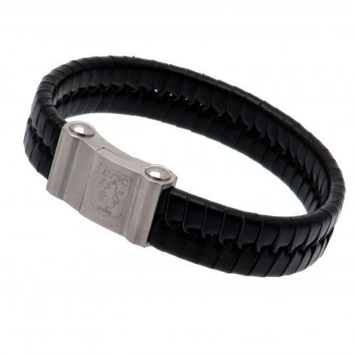 Aston Villa F.C. Single Plait Leather Bracelet by Aston Villa F.C.