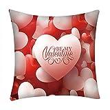 B-commerce Amor Herzförmige Rose Druck Kissenbezug Polyester Sofa Auto Kissenbezug Für Valentinstag Decor