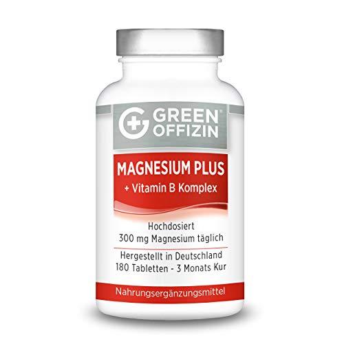 Green Offizin – Magnesium Plus + Vitamin B Komplex – 180 Tabletten