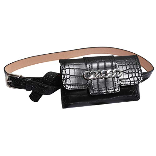 Damen Frauen Hüfttasche Serpentine Gürteltasche Leder Mode Schlangenhaut Gürtel Sports and Outdoor Belt Bag Chest Bag Gürteltasche -