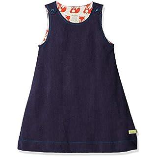 loud + proud Baby-Mädchen Kleid Wendekleid Cord, Blau (Midnight Mi), 104 (Herstellergröße: 98/104)