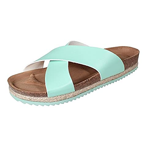 Paez Damen santal Vaqueta Turquoise mint, Schuhe