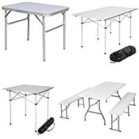 TecTake FOLDING PORTABLE CAMPING TABLE - different models - 6