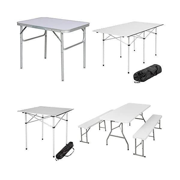 TecTake FOLDING PORTABLE CAMPING TABLE - different models - 1