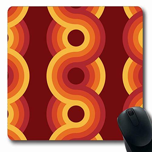 Luancrop Mousepads Polster Retro geometrisches Weinlese-Art-Muster-starker Bauhaus-Entwurf rutschfeste Spiel-Mausunterlage Gummi-längliche Matte -