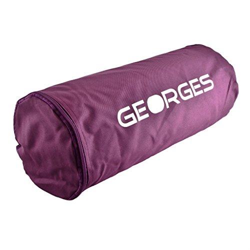 GEORGES Akupressurmatte/Yogamatte mit Tasche 75x44cm (Lila)