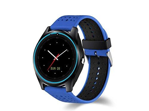 JxucTo Freundlich Einstellbare Farbe Bildschirm Smart Armband Uhr Pulsmesser Schlaf Schrittzähler Fitness Tracker (Blau)