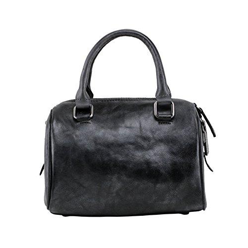 Portable simple handmade diagonale sacs à main en cuir sac à bandoulière en cuir sacs à main rétro original et décontracté Dark grey