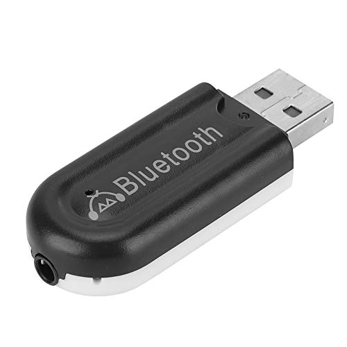 Garsent Bluetooth Audio Receiver, USB Wireless Bluetooth Musik Stereo Receiver Adapter Unterstützung 3,5 mm AUX Musik Streaming Sound System für Auto Stereo Lautsprecher(schwarz) Auto Stereo-sound-systeme