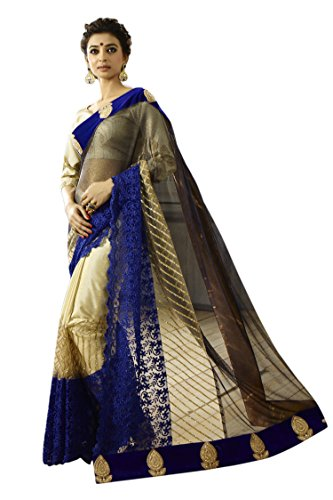 CHIRAG SAREES Georgette Saree With Blouse Piece(10480-Blue_Blue_Free Size)