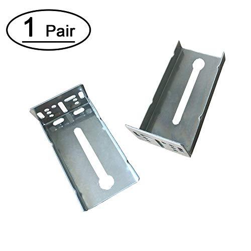 Full Extension Kit (Schubladenschienen 55,9 cm Soft Close Schublade Gildes Full Extension Kugellager Schubladenschienen mit rückseitigen Halterungen für Küchenschubladen, 10 Paar Rear Mount Brackets - 1 Pair)