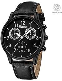 5753c123cd67 Oliver Noah – Reloj de Pulsera analógico para Hombre – Diseño clásico con  Correa Estilo Cuero