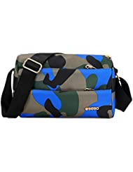 Y-BOA Unisexe Sac Bandoulière Messenger Epaule Camouflage Scolaire Voyage Loisir Camping Oxford