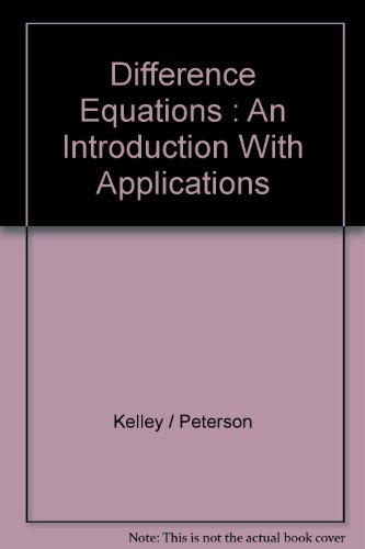 Difference Equations : An Introduction With Applications