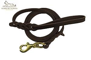 Premier 1,8m Cuir Laisse de dressage de chien. Fabriqué à partir de cuir et est une excellente Option pour chiens de chasse ou General Obéissance dans la cour.