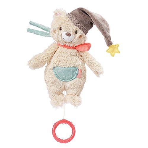 Fehn 060119 Mini-Spieluhr Bär - Aufzieh-Spieluhr mit herausnehmbarem Spielwerk - Für Babys und Kleinkinder ab 0+ Monaten - Maße: 20 cm