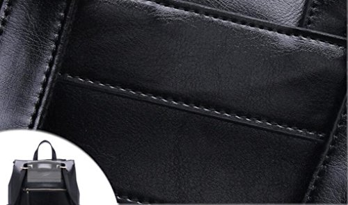 Ms. Cera Di Petrolio Zaino In Pelle Black