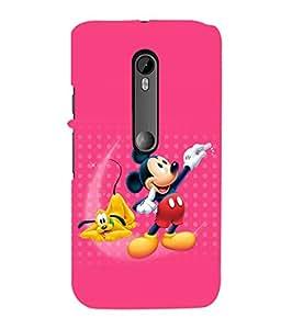 printtech Mickey Mouse Pluto Disney Back Case Cover for Motorola Moto G3::Motorola Moto G (3rd Gen)
