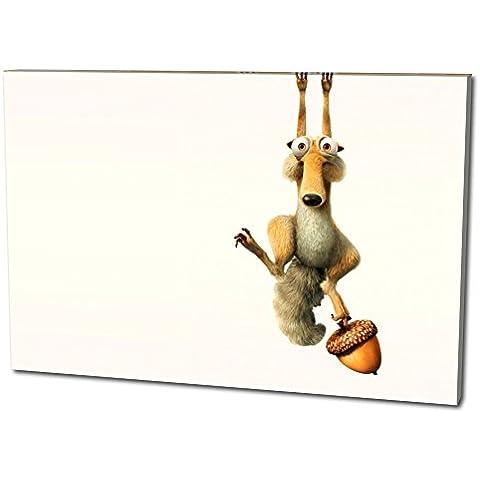 Ice Age Tela da parete Formato: 60x40 cm, qualità TOP! Illustrazione da parete realizzata in Germania disponibile in diverse misure, da quella piccola fino alla grande (XXL)! Stampa conveniente e incorniciata pronta per essere appesa - con motivo fantastico e unico nel suo genere. Non un semplice poster, né un manifesto!