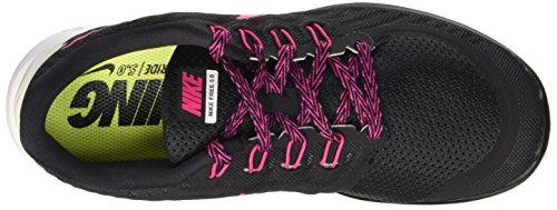 Nike Wmns Free 5.0 - Scarpe Sportive Donna Black/Vivid Pink-White