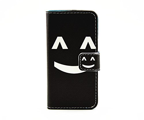 inShang Hülle für iPhone SE, SUPER PU Leder Tasche Hülle Skins Etui Schutzhülle Ständer Smart Case Cover für iPhone SE Cell Phone Displayschutzfolie Bildschirmschutzfolie, Handy , smile