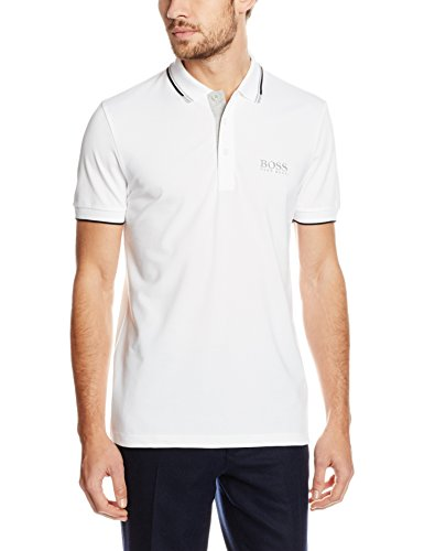 Boss Green Paddy Pro, Polo Homme Blanc (White 100)