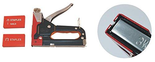 3 in 1 Handtacker+Nagler Hand Tacker Klammern 4-14mm Tackerklammern Nägel Metall Nagler Hefter Hand Tacken Klammern Kombi-Tacker