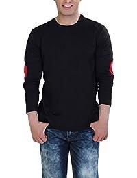 The Cotton Company Men's Full Sleeve Round Neck T Shirt - Black
