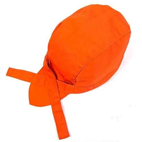 Chef Kleidung Zubehör schmutzabweisend lichtechte Köche Hat Verstellbare Kappe Orange (Monogramm Kinder Kleidung)