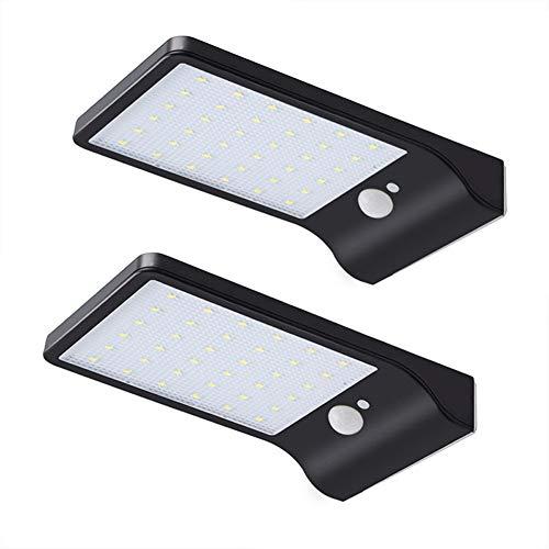 GYFHMY 2er Pack Solar Rinne Lichter 36LED Outdoor-Bewegungssensor, Sicherheit wasserdicht einstellbar, Patio Scheune Veranda Gartenweg Auffahrt (Outdoor-solar-flut-licht-bewegung)