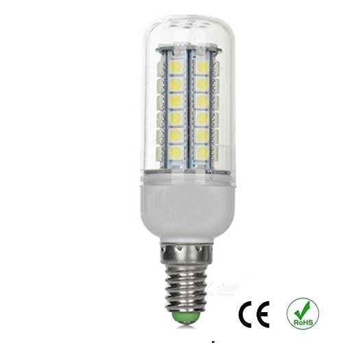 5 Stück E14 8W 1200lm LED Lampen Mais-Birne Leuchtmittel kaltweiß tageslichtweiß 6500K 360° Abstrahlwinkel 48x 5050 SMD LED Kolben Kühlen