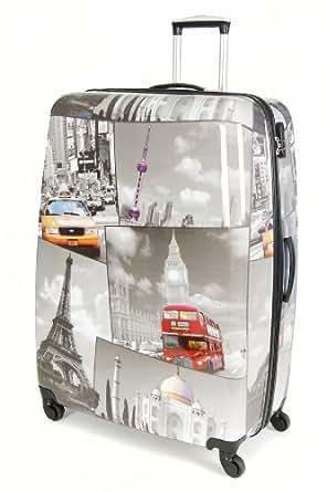Aerolite 29'' Super Lightweight Hardshell Luggage Suitcase (PCF 535 Black/White)