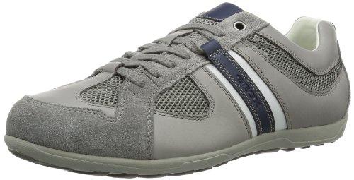 Geox Mito A, Pantofole Uomo Grigio (Stone/Navy C9032)