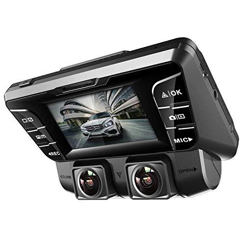 4K - 2880×2160P Dashcam Auto,2,7In Full HD WiFi Dual Sony Prozessor Vorne&Hinten Autokamera mit HDR&WDR Nachtsicht&Akku&G-Sensor Parkmonitor&Bewegungserkennung für Parküberwachung,mit 128 GB SD Karte
