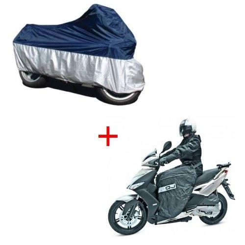 Delantal + Toalla de Moto/Scooter, Kit OJ C002+ tc01Talla XL Montaje rápido,