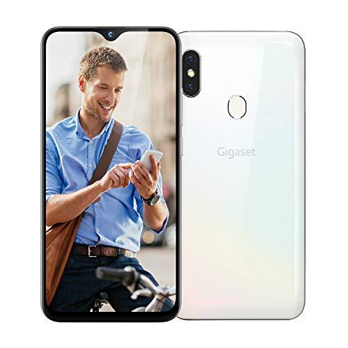 Gigaset GS290 Business Smartphone (ohne Vertrag mit Clearcover zum Schutz - 6,3 cm (6,3 Zoll) V-Notch Display, 4GB RAM, 64GB Speicher, Android 9.0 Pie) pearl white