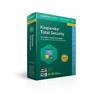 Kaspersky Total Security Mise à jour|2018|5 appareils|1 An|Ordinateurs/Tablettes Windows/Android/Mac/Smartphones|Téléchargement par KASPERSKY - Logiciels