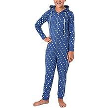 f4e16c4ea6 Mädchen Schlafanzug Einteiler Jumpsuit Overall langarm - Tupfendesign - 467  90 001