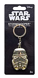 Star Wars 98911Storm Trooper goldiger llavero, unisex de Child