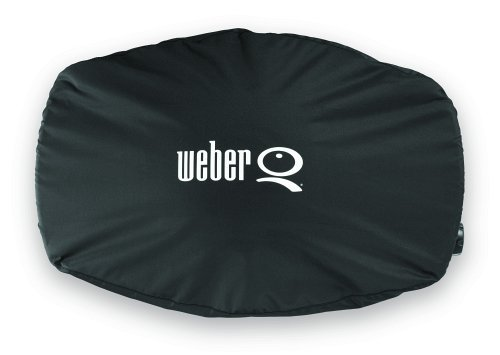 Weber Stephen Products Q Grill Cover Vinyl Bonnet For Q2000 Q200