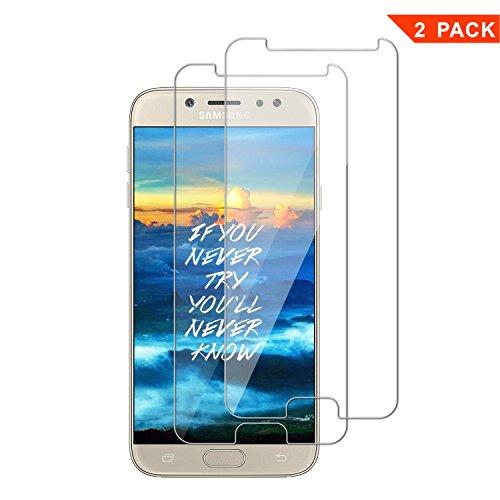 Samsung J7 2017 Schutzfolie, 2 Stück ViViSun Gehärtetem Glas Displayschutzfolie Panzerglas Folie für Samsung Galaxy J7 2017 (Bewusst Kleiner Als Das Display, Da Dieses Gewölbt Ist)