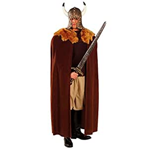 Manteau de Viking Moyen-âge vêtement avec fourrure manteau viking Mardi gras carnaval Normand cape costume accessoire
