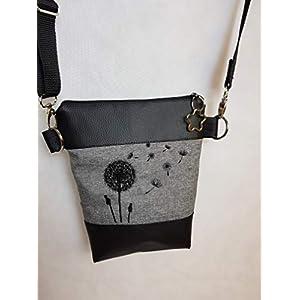 0c4b42121ee63 Kleine Handtasche Pusteblume Umhängetasche Schultertasche Tasche mit  Anhänger handmade Kunstleder