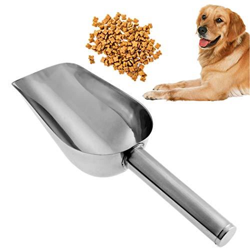 Legendog Essen Scoop Edelstahl Stehlen Fertig Verdicken Katze Hund Essen Schaufel Haustier Vorräte (Essen Kostüm Für Hunde)