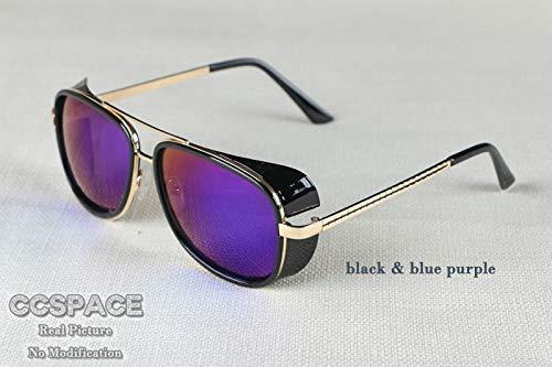 GFF Sonnenbrille für Herren Tony Stark Iron Man Matsuda Sonnenbrille Retro Vintage Eyewear Sonnenbrille UV400 De Sol