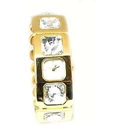 Crystal Couture Gold Tone Bracelet Strap Ladies Fashion Watch WA066944