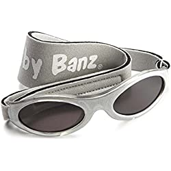 KidzBanz Babysonnenbrille 100% UV-Schutz 2-5 Jahre Motiv Silver