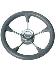 Osculati 45.127.02 - Volante poliuretano razze inox Ø mm 280 grigio (Polyurethane steer. wheel SS spokes Ø 280 mm grey)
