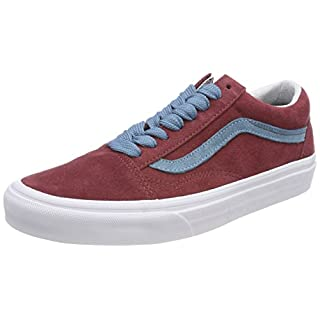 Vans Unisex Adults' Old Skool Trainers, Red ((Oversized Lace) Cabernet/Adriatic Blue R0x), 8 UK 42 EU